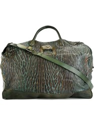 Numero 10 Animal Print Weekender Green