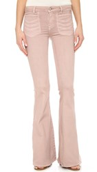 Free People Stella High Rise Flare Jeans Mauve