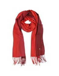 Mila Schon Gradient Burgundy Red Wool And Cashmere Stole