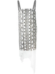 3.1 Phillip Lim Layered Sequin Embellished Dress White