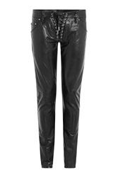 Dsquared2 Leather Pants Black