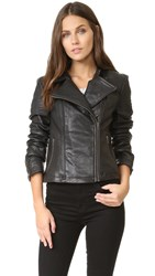 Cupcakes And Cashmere Shirley Moto Leather Jacket Black