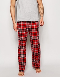 Esprit Flannel Check Lounge Pants Red