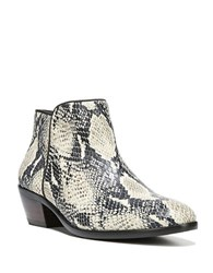 Sam Edelman Petty Printed Leather Ankle Boots Black White