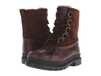 Frye Riley D Ring Lace Espresso Wp Smooth Pull Up Men's Lace Up Boots Brown