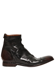 Alberto Fasciani Horse Vintage Leather Low Boots Black