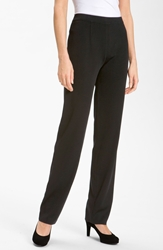 Misook Straight Leg Knit Pants Petite Black