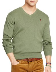 Polo Ralph Lauren Pima V Neck Sweater Green