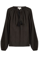 Talitha Cotton Tunic Blouse Black