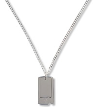 Seven London Double Dog Tag Pendant Silver