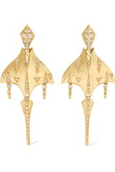 Venyx Tiger Ray 18 Karat Gold Diamond Earrings