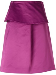 Etro Ruffle A Line Skirt Pink And Purple
