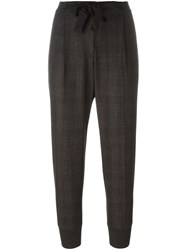 Brunello Cucinelli Tapered Leg Cropped Trousers Grey