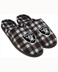 Forever Collectibles Oakland Raiders Flannel Slide Slippers Black
