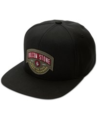 Volcom Men's Cresticle Snapback Logo Hat Ink Black