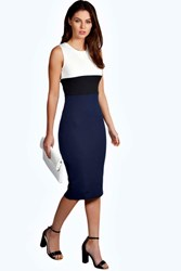 Boohoo Bodycon Midi Dress Navy