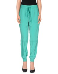 Space Style Concept Trousers Casual Trousers Women Green
