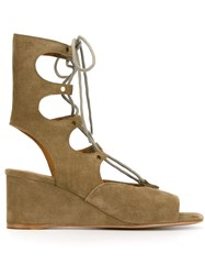 Chloa 'Foster' Wedge Sandals Nude And Neutrals