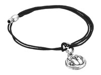 Alex And Ani Kindred Cord Bracelet Flip Flops Silver Bracelet Black