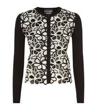 Boutique Moschino Floral Crochet Cardigan Female Black