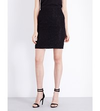 The Kooples High Rise Stretch Lace Skirt Black