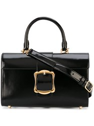 Simone Rocha Rectangular Buckle Cross Body Bag Black