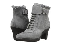 Aerosoles Rufflection Dark Gray Suede Women's Lace Up Boots