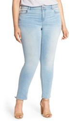 Vince Camuto Super Stretch Skinny Jeans Plus Size Blue