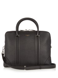 Givenchy Grained Leather Slim Briefcase Black