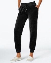Style And Co. Sport Velour Drawstring Jogger Pants Only At Macy's Deep Black