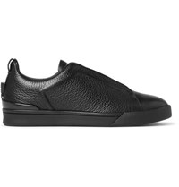 Ermenegildo Zegna Couture Leather Sneakers Black