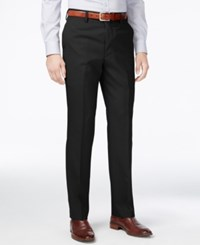 Louis Raphael Men's Slim Fit Wool Dress Pants Black