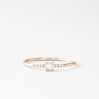 Blanca Monros Gomez Little Prong Solitaire Ring Rose Gold