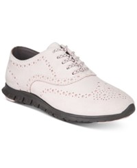 Cole Haan Zerogrand Wingtip Lace Up Oxfords Women's Shoes Pale Lilac