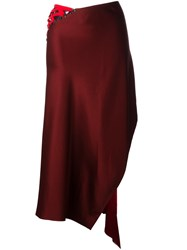 Dkny Laced Asymmetric Skirt Red