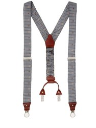 Cor Sine Labe Doli Prince Of Wales Printed Silk Suspenders