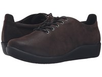 Clarks Sillian Tino Dark Brown Synthetic Nubuck Women's Lace Up Casual Shoes