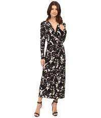 Norma Kamali Dolman Wrap Dress Modern Camo Women's Dress Gray