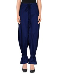 Rose' A Pois Trousers Casual Trousers Women Dark Blue