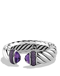 David Yurman Waverly Bracelet With Amethyst And Purple Sapphires Silver Purple