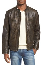 Lucky Brand Men's Bonneville Washed Leather Jacket