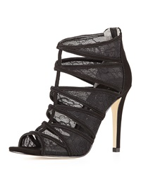 Ivanka Trump Derry Strappy Zip Back Lace Inset Sandal Black