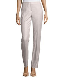Lafayette 148 New York Textured Straight Leg Pants Khaki Multi