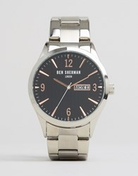 Ben Sherman Bracelet Watch In Silver Black Silver