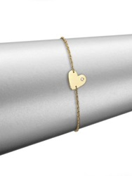 Jennifer Zeuner Jewelry Heart Charm Bracelet Yellow Gold
