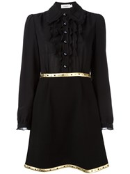 Coach Metallic Detailing Shirt Dress Black