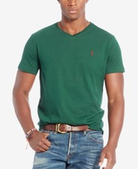 Polo Ralph Lauren Men's Relaxed Fit Jersey V Neck T Shirt Welsh Green