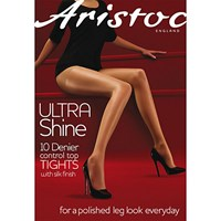 Aristoc 10 Denier Control Top Bodyshaper Sheer Tights Black