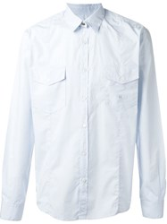 Golden Goose Deluxe Brand Chest Pocket Shirt Blue