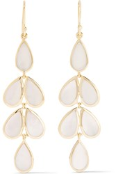 Ippolita Rock Candy Teardrop 18 Karat Gold Mother Of Pearl Earrings Gold White